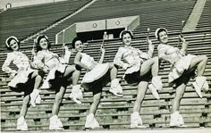 The UT Majorettes kickin' it old school.