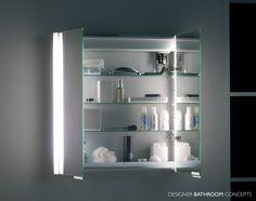 Summit Designer Illuminated Bathroom Cabinet Doors Open From Designerbathroomconcepts Mirror