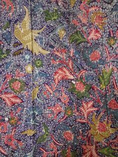Batik 3 negri tjoa purple base 1950.