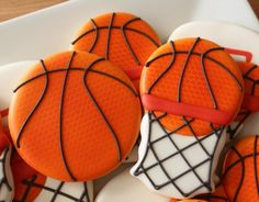 Basketball Goal Cookies Technique on basketballs could be useful for mermaid's tail, among other things.