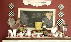 Forever Decorating!: Let's Talk Chalk - Beware!  Looking at the sign above the chalkboard