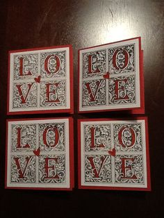 4 LOVE Stampin Up cards