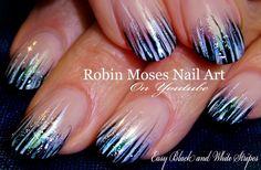 Easy Stripe Black and white Nails! #blackandwhite #design #tutorial  #nails #nailart #howto #easy #DIY #DIYnails #spring2016 #stripe #summer2016 #elegant #beginner #nailartforbeginners