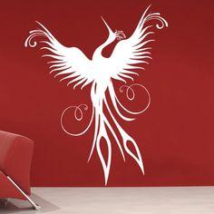 the phoenix bird wall decal