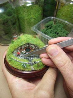how to make a miniature hobbiton garden - Google Search
