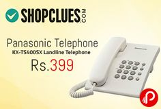 Shopclues is offering Panasonic Telephone KX-TS400SX Landline Telephone at Rs.399. A Must Have Product For Home And Office. Quality Product From Panasonic. 1 Year Warranty, 3-Step Ringer Volume Control, Mute, Pause, Flash, Redial, Wall Mountable. Shopclues Coupon Code – SCEA1A30  http://www.paisebachaoindia.com/panasonic-telephone-kx-ts400sx-landline-telephone-at-rs-399-shopclues/