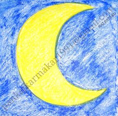Very easy moon painting with oil pastel for kids by Pankaj karmakar Art Drawings For Kids, Drawing For Kids, Easy Drawings, Easy Painting For Kids, Simple Oil Painting, Galaxy Pictures, Galaxy Pics, Moon Painting, Easy Paintings