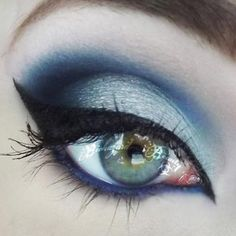 Beautiful use of Sugarpill Lumi eyeshadow by Tori Biohazard! Perfect for an evil snow princess!
