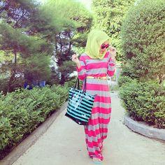 .@aliaqueen   short holiday stripes dress : @newquila furla bag : @Steven LaFollette Bag thank you #...   Webstagram - the best Instagram viewer