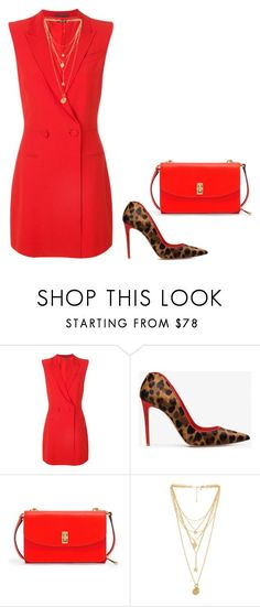 """""""red code"""" by cristina-2017 ❤ liked on Polyvore featuring Alexander McQueen, Henri Bendel and Rebecca Minkoff"""