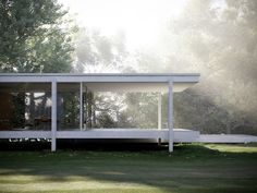 design-fjord:  Farnsworth House - Mies van der Rohe - Visualisation by Peter Guthrie