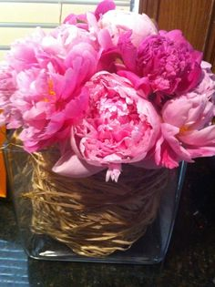 peonies i put together for Easter