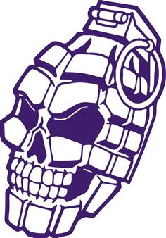 Skull Hand Grenade Weapon Military Car Truck Window Wall Vinyl Decal Sticker #Grenade