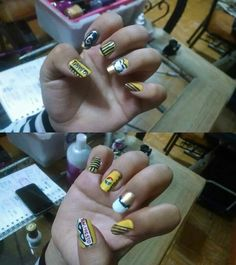 Golden Ryan nail art by me (Tigger & Bunny)