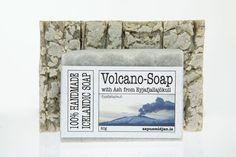Volcano Soap Bar with Shea Butter  - Ingredients from Eyjafjallajökull Iceland #Sapusmidjan