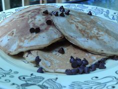 Chocolate Chip Collagen Protein Pancakes