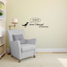 Rawr means I love You in Dinosaur with T-Rex Quote - Wall Decal Custom Vinyl Art Stickers