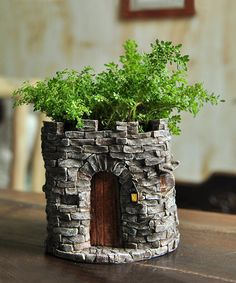 Grow small ferns and other fairy favorites in this lovely flower pot.