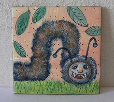 Kleine Raupe Mini, Ebay, Small Art, Caterpillar, Insects, Abstract, Painting Art, Pictures