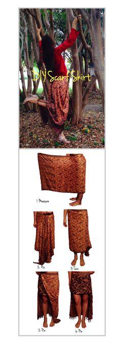 DIY scarf skirt