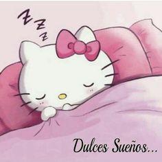 Hello Kitty Imagenes, Gods Love Quotes, Hello Kitty My Melody, Night Pictures, Good Night Sweet Dreams, Cute Cartoon Animals, Hello Kitty Wallpaper, Good Night Image, Emoticon
