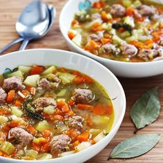 This soup is a perfect option during cold winter months! Ingredients: 3 Carrots 1 Turnip 1 Leek 1 Parsnip 2 Celery Sticks 2 Medium Potatoes Fresh or Dried Dill For the Meatballs: 1 Egg 1 Onion Minced meat (pork or beef) 1 Cube Chicken Stock Salt Estonian Food, Meatball Soup, European Cuisine, Russian Recipes, Finnish Recipes, Happy Foods, Soup Recipes, Easy Recipes, Soups