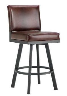 "Pasadena 26"" Swivel Bar Stool with Cushion"