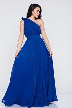rochii de seara lungi albastre din voal