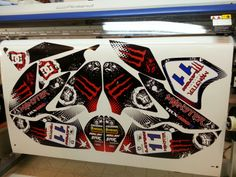 Honda TRX 450 atv graphics. Kit by Fireblade Graphics and Signs. Like us on Facebook to see more kits, contact info and other info about our kits.