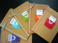 Typewriter Thank You Cards Set of 5 by apaperaffaire on Etsy, $9.50