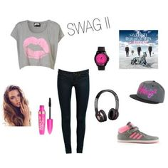 Swag outfit~~ Pretty cute actually, i wonder if i can pull it off