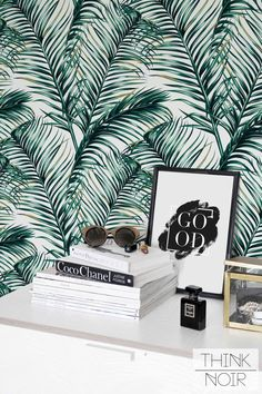 Green Watercolor Leaves Removable wallpaper/ Self-adhesive/ Regular wallpaper / Leaf Wallpaper by ThinkNoirWallpaper on Etsy https://www.etsy.com/uk/listing/387577350/green-watercolor-leaves-removable