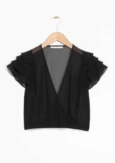 & Other Stories | Rodarte Cropped Silk Top