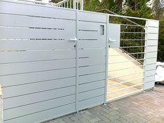 עיצוב שערים חשמליים מברזל Garage Doors, Exterior, Outdoor Structures, Gates, Outdoor Decor, Inspiration, Home Decor, Biblical Inspiration, Decoration Home