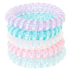 Girls Accessories Set Plastic Bracelet//Earrings//Headband Lilac With Pattern