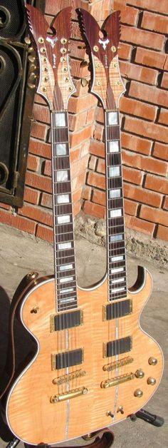 Pasaye 6 /12 double neck Guitar --- https://www.pinterest.com/lardyfatboy/