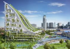 green sustainable architecture biomimetic design vincent callebaut tour and taxis Architecture Durable, Architecture Design, Green Architecture, Sustainable Architecture, Sustainable Design, Landscape Architecture, Building Architecture, Sustainable Development, Landscape Design