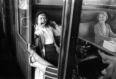 Atelier Robert Doisneau | Site officiel //  Compartiment. 1958.  (  http://www.gettyimages.co.uk/detail/news-photo/two-women-in-a-train-compartment-septembre-france-in-1958-news-photo/142369350