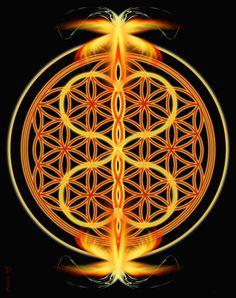 Twin Flames - Sacred Geometry Mandala by Pearl Whitecrow