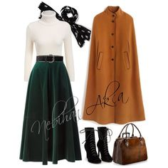 Cute Modest Outfits, Skirt Outfits, Classy Outfits, Beautiful Outfits, Muslim Fashion, Hijab Fashion, Girl Fashion, Fashion Outfits, Womens Fashion