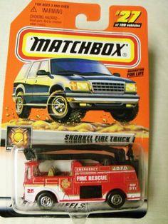 1999 Mattel Matchbox Fire Fighters Snorkel Fire Truck #27 of 100 by Mattel. $13.77. 1999 Mattel Matchbox Fire Fighters Snorkel Fire Truck #27 of 100
