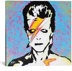 David Bowie - Aladdin Sane Poster by Mr Babes Canvas Artwork, Canvas Prints, David Bowie Art, Fine Art Painting, Painting, Rolling Stones Poster, Painting Prints, Artwork, Canvas Giclee