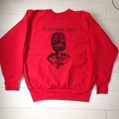 "Sete Star Sept ""Torture Machine"" Sweater - Red Body:United Sport(12oz super heavy weight) Size: XL http://shop.7s7.org/merch/sete-star-sept-torture-machine-sweater-red"