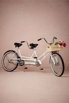 What an adorable idea for your exit vehicle (imagine the pictures!) Just be sure to change out of your gown first ;0) Anthropologie Weddings! Bowery Lane Tandem Bicycle in Décor Decorations at BHLDN