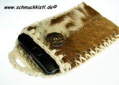 Handytasche Kuhfell von www.Schmuckkistl.de auf DaWanda