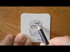 So zeichne und schattiere ich das Zentangle® Muster Hamsix von Alena Light. Eine Übersicht aller Muster gibt es auf http://bunte-galerie.de/zentangle-muster-...