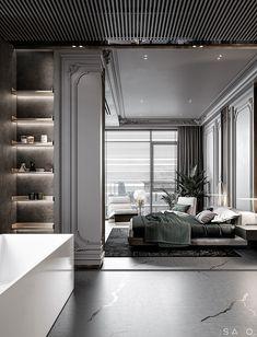 Master Bedroom Interior, Bedroom Closet Design, Home Bedroom, Residential Architecture, Interior Architecture, Interior Design, Apartment Projects, Classic Interior, New Home Designs
