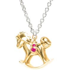 Isabelle Rowe - Carousel Rocking Horse Necklace ($4,475) ❤ liked on Polyvore featuring jewelry, necklaces, rock necklace, horse jewelry, chain necklace, rock jewelry and chains jewelry