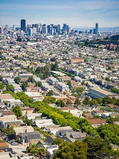 Mission District and Downtown from Bernal Heights, San Francisco.