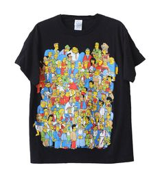 Vintage 1990s The Simpsons Characters T-Shirt Adult Size Medium  ..::MEASUREMENTS::..  Width- 41 Length- 26  Big fan of the longest running animated show? Know someone who loves The Simpsons? This is the item for them. Id love to meet someone who can name every character on this shirt.. for me its a bit of an Eye-Spy game! Please message me with any questions!  ---------------------------------------------------------------------------------------------  For more sweatshirts & vintage…